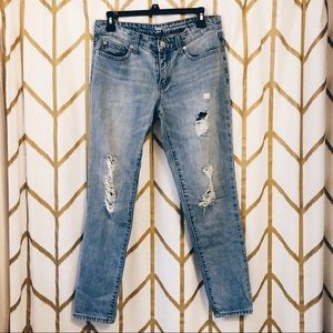 Gap Distressed Sexy Boyfriend Jeans